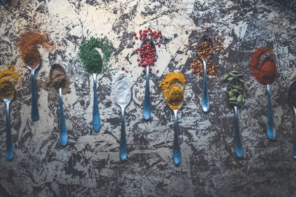 Fleur Challis Food Photography spices on spoons