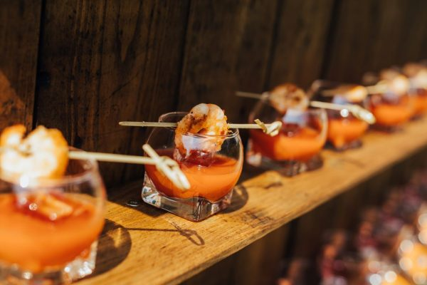 Canapes and reception drinks