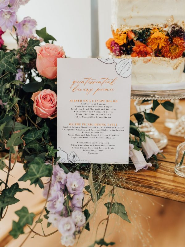 Quintessentially British Picnic Wedding Stationery